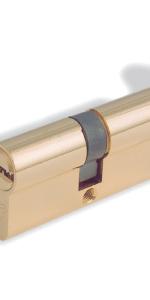 Bezpečnostní zámková vložka s knoflíkem (olivou) zamyká dveře zevnitř bez použití klíče