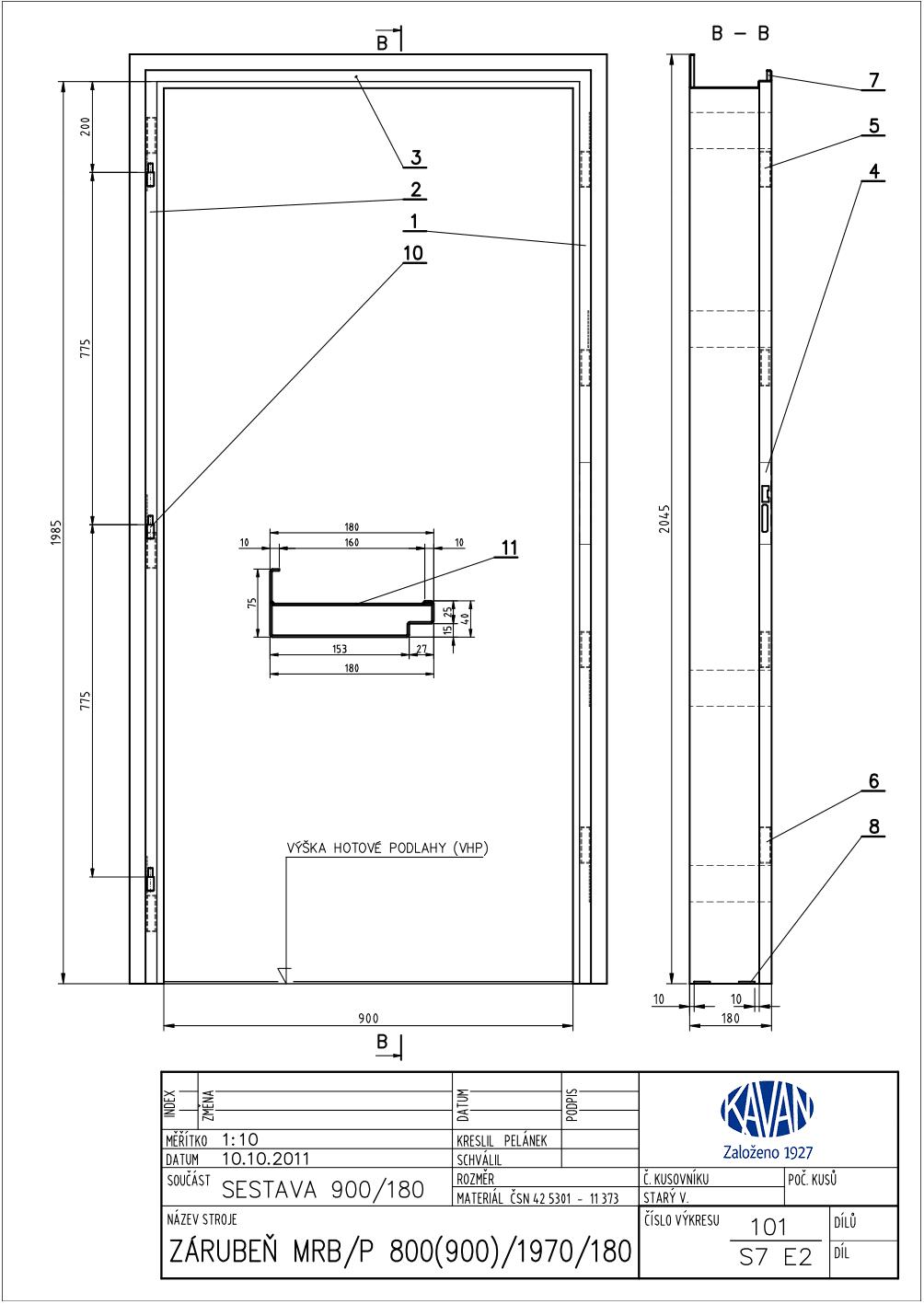 Zárubeň na panel