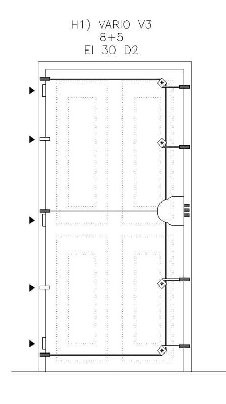 Schéma zamykání bezpečnostních dveří Vaio V3