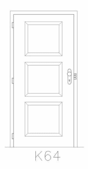 Příklad kazety bezpečnostních dveří