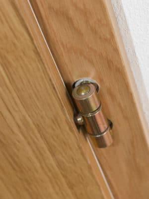 Bezpečnostní dveřní třídílný pant - mosazný