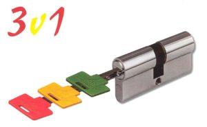 Bezpečnostní vložka Mul-T-Lock trojživotná - semafor